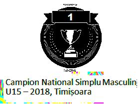 Campion National Simplu Masculin U15 – 2018, Timisoara