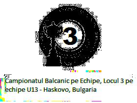 Campionatul Balcanic pe Echipe, Locul 3 pe echipe U13 - Haskovo, Bulgaria