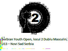 Serbian Youth Open, locul 2 Dublu Masculin, U13 – Novi Sad Serbia